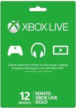 Abonament Xbox Live Gold - 12 miesięcy