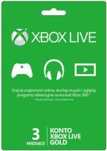 Abonament Xbox Live Gold - 3 miesiące