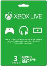 Abonament Xbox Live Gold - 3 miesiące - wersja cyfrowa