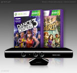 Kinect + Kinect Adventures + Dance Central 3