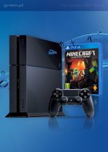 Konsola Playstation 4 + Minecraft