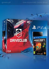 Konsola Playstation 4 + DriveClub + Minecraft