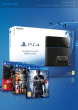 PlayStation 4 1TB + Uncharted 4: Kres Złodzieja + DriveClub + Grand Theft Auto V + Uncharted Collecti