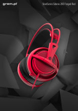 Słuchawki SteelSeries Siberia 200 Forged Red