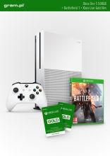 Konsola XBOX ONE S 500GB z grą BATTLEFIELD 1 + 6M Xbox Live Gold