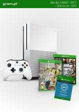 Konsola XBOX ONE S 500GB+ FIFA17+ 1m EA Access+ GTA V