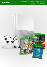 Konsola XBOX ONE S 500GB+ FIFA17+ 1m EA Access+ Minecraft+ Project Cars