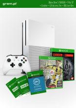 Konsola XBOX ONE S 500GB+ FIFA17+ 1m EA Access+ Evolve+ Abonament XBOX Live Gold na 6 miesięcy
