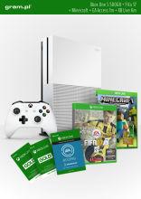 Konsola XBOX ONE S 500GB+ FIFA17+ 1m EA Access+ Minecraft+ Abonament XBOX Live Gold na 6 miesięcy
