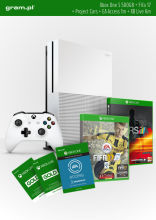 Konsola XBOX ONE S 500GB+ FIFA17+ 1m EA Access+ Project Cars+ Abonament XBOX Live Gold na 6 miesięcy