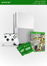 Konsola XBOX ONE S 500GB + FIFA 17 + Abonament XBOX Live GOLD na 6 miesięcy