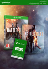 XBOX One Battlefield 1 + Steelbook + XBOX Live GOLD 3 m-ce
