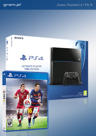 PlayStation 4 1 TB + FIFA 16