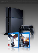 PlayStation 4 + Killzone: Shadow Fall + Battlefield 4