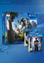 PlayStation 4 Slim 1TB + Horizon: Zero Dawn + Uncharted 4: A Thief's End + PS Plus 90
