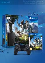 PS4 Slim 1TB + Horizon Zero Dawn + PSN90 + Dodatkowy Pad