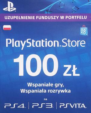 Karta PlayStation Network 100 PLN - wersja cyfrowa